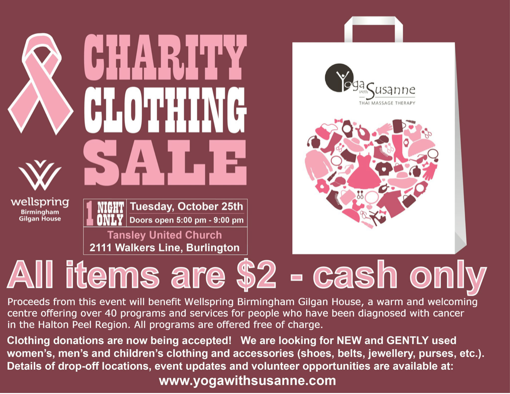 Team Logue | Burlington & Oakville real estate events charity clothing sale 2016