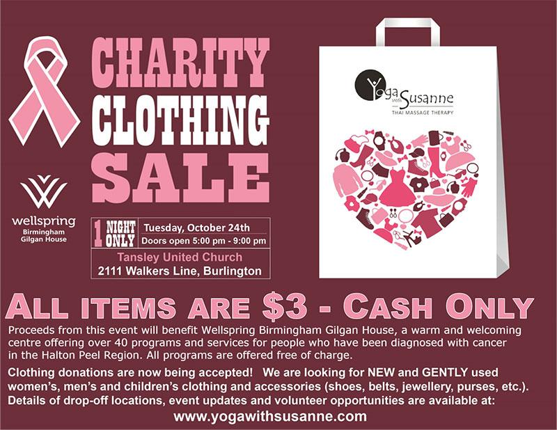 Team Logue   Burlington & Oakville real estate charity clothing sale event 2017