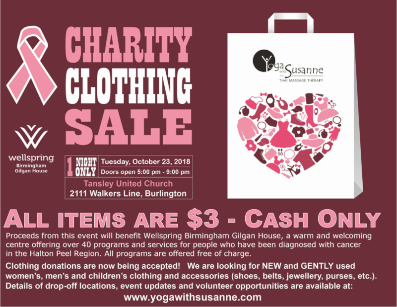Burlington Events | Charity Clothing Sale | Team Logue Real Estate Agents